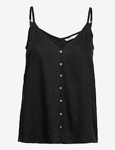 ONLASTRID SINGLET WVN - sleeveless blouses - black