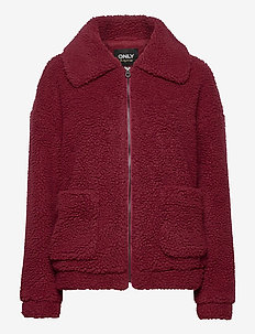 ONLEMMA SHERPA JACKET CC OTW - wool jackets - pomegranate