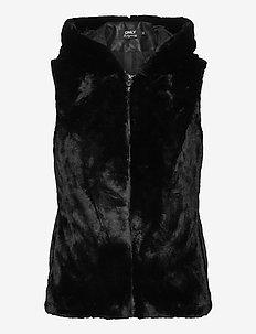 ONLMALOU FAUX FUR WAISTCOAT CC OTW - vester - black
