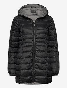 ONLNEWTAHOE QUILTED COAT OTW - wyściełane płaszcze - black
