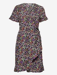 ONLOLIVIA S/S WRAP DRESS WVN - summer dresses - black