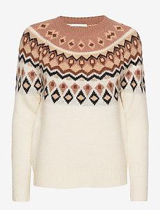 ONLAMBER JAQUARD L/S PULLOVER CC KNT - christmas sweaters - beaver fur