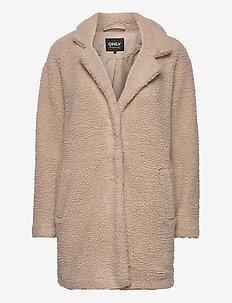 ONLAURELIA SHERPA COAT OTW - wool coats - cuban sand