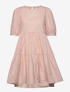 ONLKARLA S/S PUFF SHORT DRESS WVN - krótkie sukienki - cameo rose
