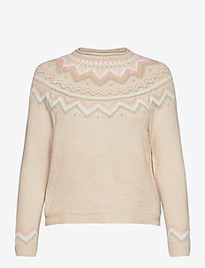 ONLNEW EYLA L/S PULLOVER KNT - christmas sweaters - pumice stone