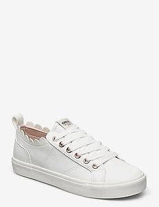 ONLSUNNY-1 PU SCALOP SNEAKER - sneakersy niskie - white