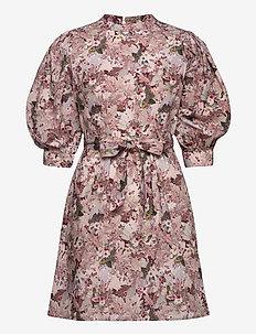 ONLCARME LIFE 3/4 DRESS WVN - robes courtes - cloud dancer