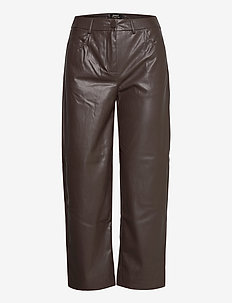 ONLGLORIA FAUX LEATHER ANCLE PANT OTW - skinnbukser - mulch