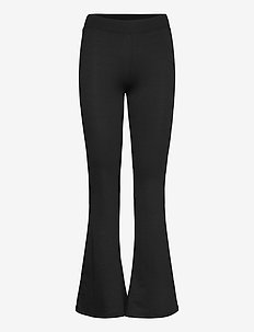 ONLFEVER STRETCH FLAIRED PANTS JRS NOOS - leveälahkeiset housut - black