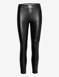 ONLRENEE PU LEGGINGS - leggings - black