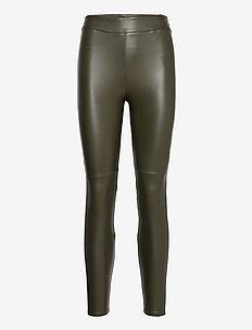 ONLRENEE PU LEGGINGS - leggings - rosin