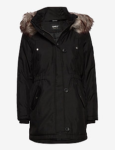 ONLIRIS FUR WINTER PARKA CC OTW - parka coats - black