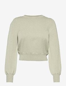 ONLALEXA PUFF L/S PULLOVER KNT - trøjer - desert sage