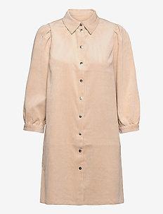 ONLRILLA PUFF CORD DRESS CC PNT - hverdagskjoler - humus