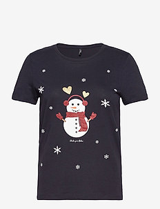 ONLYRSA CHRISTMAS REG S/S TOP JRS - t-shirts - night sky