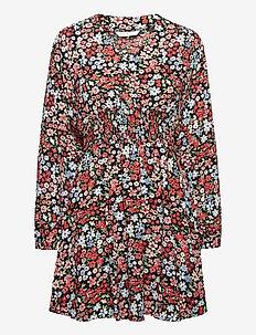 ONLTAMARA L/S DRESS WVN - vardagsklänningar - black