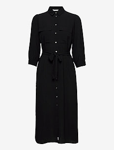 ONLNOVA LUX 3/4 LONG SHIRT DRESS SOL WVN - alledaagse jurken - black