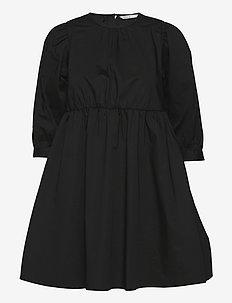 ONLELLY LIFE 3/4 O-NECK DRESS WVN - vardagsklänningar - black