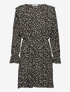 ONLZILLE L/S DRESS JRS - hverdagskjoler - black