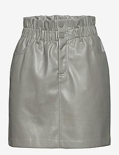 ONLMILLIE-MIRI PB FAUX LEATHER SKIRT PNT - korta kjolar - shadow