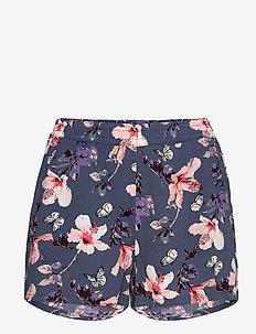 ONLNOVA LUX SHORTS AOP WVN 3 - casual shorts - vintage indigo