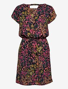 ONLNOVA LUX CONNIE BALI DRESS AOP WVN 3 - summer dresses - night sky