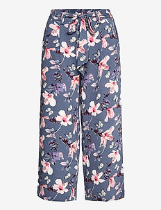 ONLNOVA LUX CROP PALAZZO PANT AOP WVN 3 - bukser med brede ben - vintage indigo