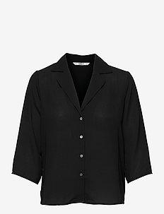 ONLALMA LIFE POLY 3/4 SHIRT SOLID WVN - langærmede skjorter - black