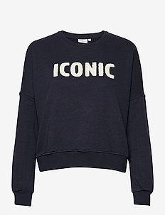 ONLEDITH LIFE L/S O-NECK SWT - sweatshirts & hættetrøjer - night sky