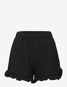 ONLNOVA LUX  FRILL SHORTS SOLID WVN - casual shorts - black