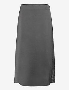 ONLMAYRA HW LONG SATEEN SKIRT TLR - midi skirts - black