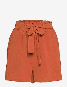ONLLAVENDER PAPERBAG SHORTS WVN - paper bag shorts - arabian spice