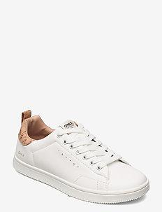 ONLSHILO-23 CORK PU SNEAKER - låga sneakers - white