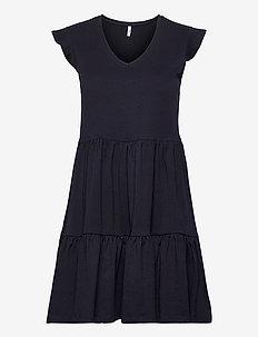 ONLMAY LIFE CAP SLEEVES FRILL DRESS JRS - summer dresses - night sky