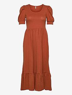 ONLMAY LIFE S/S PUFF DRESS JRS - summer dresses - arabian spice