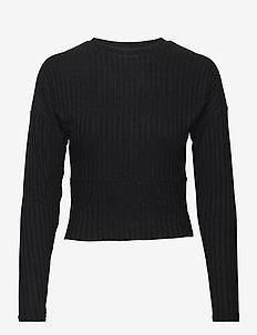 ONLDINA L/S O-NECK TOP JRS - langærmede toppe - black