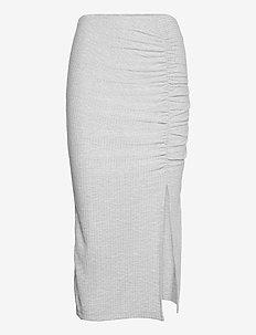 ONLNELLA SLIT SKIRT JRS - midi skirts - light grey melange