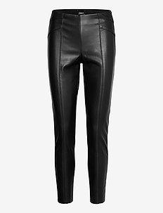 ONLJOLEE FAUX LEAHTER CUT LEGGING PNT - læderbukser - black