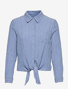 ONLLECEY LS KNOT BLUE  DNM SHIRT - langærmede skjorter - blue heron