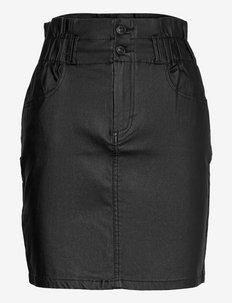 ONLMILLIE-NYA PB  COATED SKIRT CC PNT - korte nederdele - black
