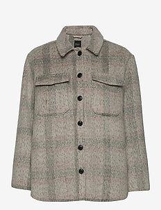 ONLKAWI L/S CHECK SHACKET PNT - overshirts - light grey melange