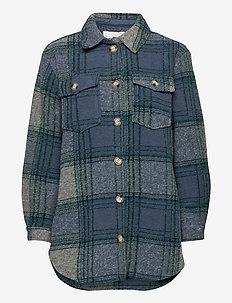 ONLDEENA-DIDI L/S CHECK SHACKET PNT - overshirts - faded denim