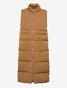 ONLSTACY QUILTED WAISTCOAT CS OTW - puffer vests - toasted coconut
