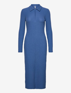 ONLNELLA HALF ZIP POLO DRESS JRS - t-shirtkjoler - campanula