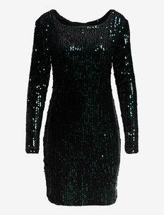 ONLCONFIDENCE L/S  SEQUINS DRESS JRS - paljettklänningar - black