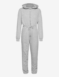 ONLAVA LIFE SWEAT JUMPSUIT SWT - jumpsuits - light grey melange