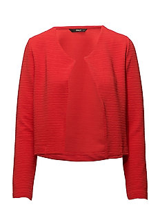 onlLECO ODESSA L/S CARDIGAN JRS NOOS - FLAME SCARLET