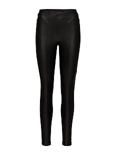 onlMARY FAUX LEATHER MIX LEGGINGS OTW - BLACK