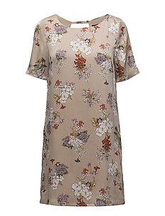 onlEVA S/S DRESS WVN - FEATHER GRAY