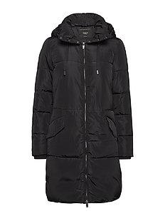 onlELIN LONG NYLON COAT CC OTW - BLACK